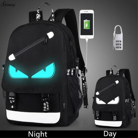 PINkart-USA Style 1 Anti Theft Backpack Usb Charging Men Laptop Backpacks For Teenagers Female Mochila Travel Backpack School Bags Luminous Backpack