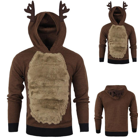 PINkart-USA Sunfree Christmas Main Product Men Elk Cosplay Sweaters Cool Boy Worth Having Selling Fashion Style