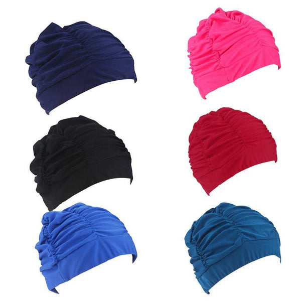 PINkart-USA Swimming Hat Women Unisex Girls Long Hair Bathing Cap Vocational Swimming Cap Stretch Drape Swim