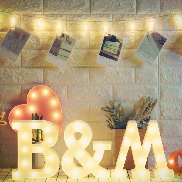 PINkart-USA Symbol Led Love Marquee Sign Alphabet Light Indoor Wall Hanging Night Light Bedroom Wedding