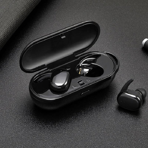 PINkart-USA T2B White Mini Wireless Headphones Bluetooth 4.1 Headset Earphone Earbuds With Charging Case For Apple Xiaomi