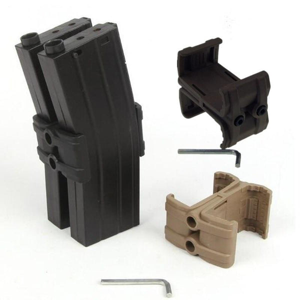 Tactical Double Round Magazine Abs Parallel Maglink Coupler Clamp Connector Kit Mount Holder For
