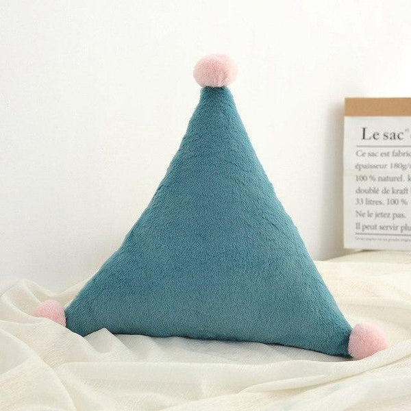 PINkart-USA Triangle Green Born Kawaii Toy Kids Back Cushion Baby Room Decor Pillows Crib Wall Decoration Children Products