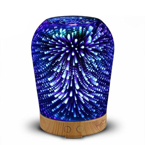 PINkart-USA Ultrasonic Air Humidifier Aroma Diffuser Aromatherapy Essential Oil Diffuser with Colorful Night