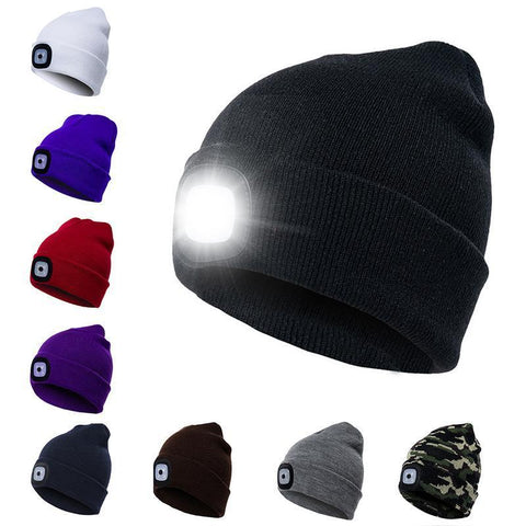 PINkart-USA Unisex Autumn Winter Led Lighted Cap Warm Beanies Outdoor Fishing Running Beanie Hat Flash