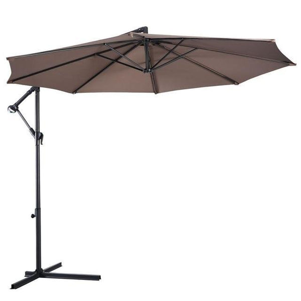 PINkart-USA United States / OP2808TN 10' Hanging Umbrella Patio Sun Shade Offset Outdoor Market W/T Cross Base Outdoor Furniture Op2808