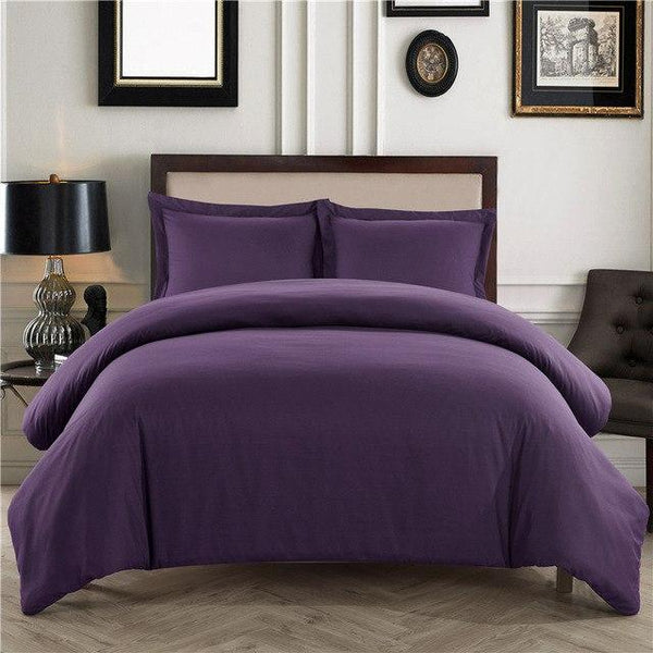 PINkart-USA Violet / King 3Pcs/Set Home Textile Sundial Quilt Cover Pillowcase Bedding Sets Adult Beddingset Polyester