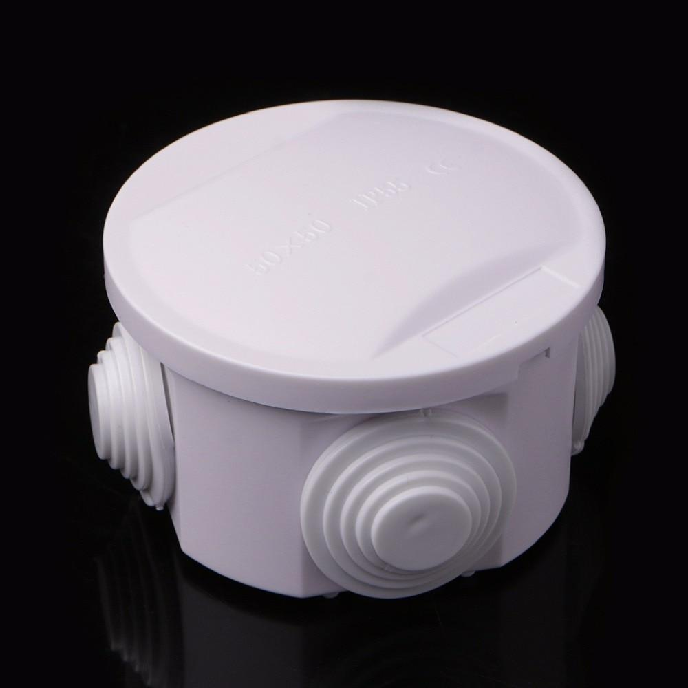 PINkart-USA Waterproof Plastic Enclosure Case Power Junction Box Ip55 50Mm X 50Mm Abs Connectors