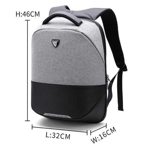 PINkart-USA White / 15 Inches Arctic Hunter Brand Men Backpack Anti Theft Usb Charging 15 Inch Laptop Bag Business Travel Casual Back Pack Bag Women Mochilas