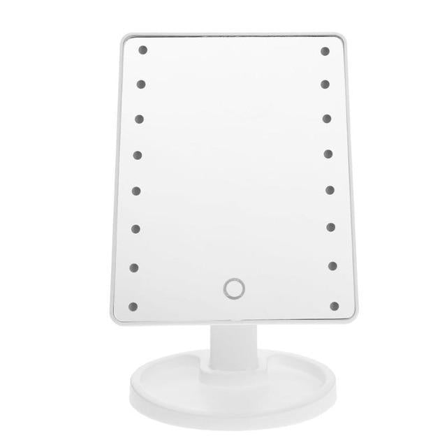 PINkart-USA White 16 LED Professional Led Touch Screen Makeup Mirror Luxury Mirror With 16/22 Led Lights 180 Degree