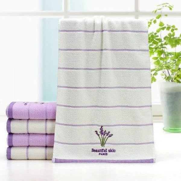 PINkart-USA White / 32X73cm Elegant Lavender Cotton Terry Towels For Adults Decorative Face Bathroom Hand Towels Toallas De