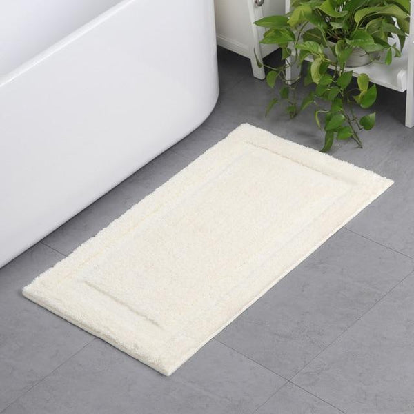 PINkart-USA white / 45x65cm Classic Solid Color Bath Rug Door Mat Bathroom Carpet Anti-Slip Kitchen Mats Absorbent Carpets