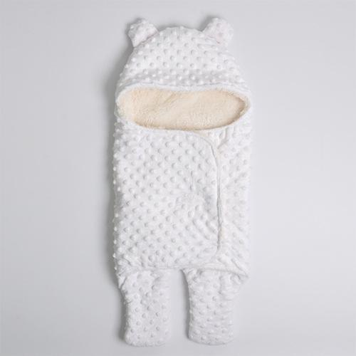 PINkart-USA White Big Hot Sale Baby Sleeping Bag Knitted Solid Swaddle Blanket Footmuff Sleepsacks Winter Warm Infants'