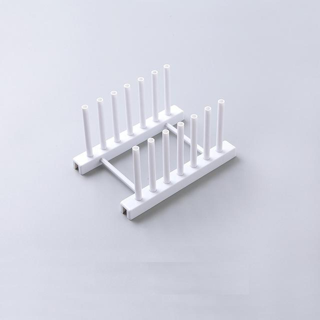 PINkart-USA white Dish Tray Rack Kitchen Organizer Shelves Plastic Dish Holders Tablewear Drying Rack Cup Plates