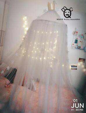 PINkart-USA White / height 240cm 6 Colors Hanging Kids Baby Bedding Dome Bed Canopy Cotton Mosquito Net Bedcover Curtain For Baby