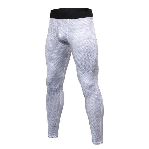 PINkart-USA white square / S Men Running Pants For Elastic Sport Workout Training Pants Gym Clothing Fitness Tight Sport Jogging
