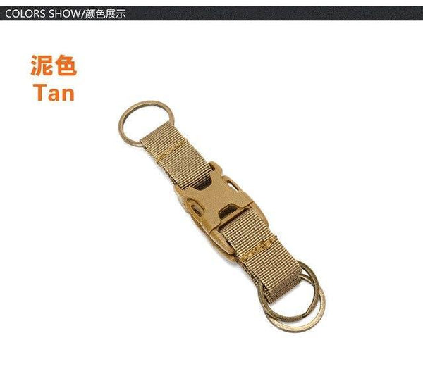 PINkart-USA White Tactical Carabiner Backpack Hooks Molle Hook Survival Gear Military Nylon Keychain Clasp Outdoor