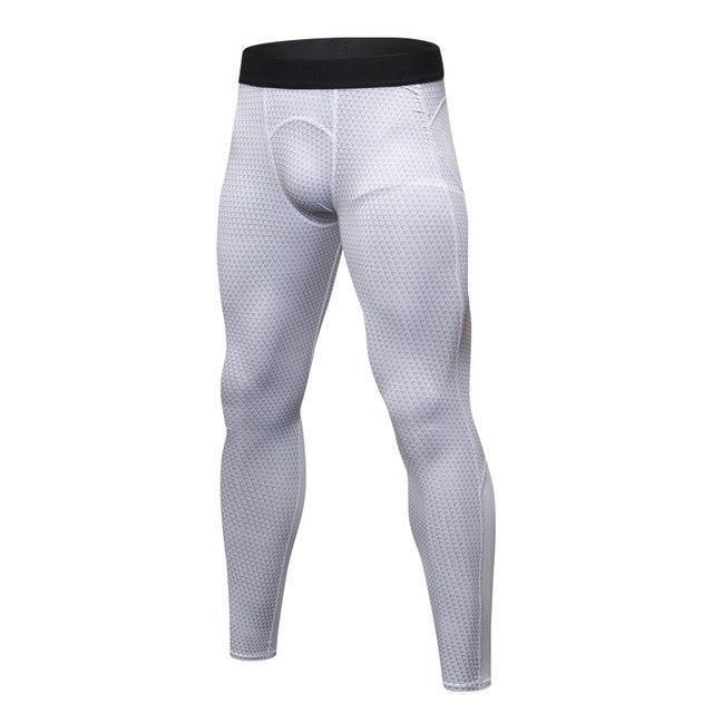PINkart-USA white triangle / S Men Running Pants For Elastic Sport Workout Training Pants Gym Clothing Fitness Tight Sport Jogging