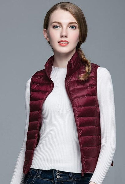 PINkart-USA Wine / S Winter Women 90% White Duck Down V Women'S Ultra Light Duck Down V Jacket Autumn Winter