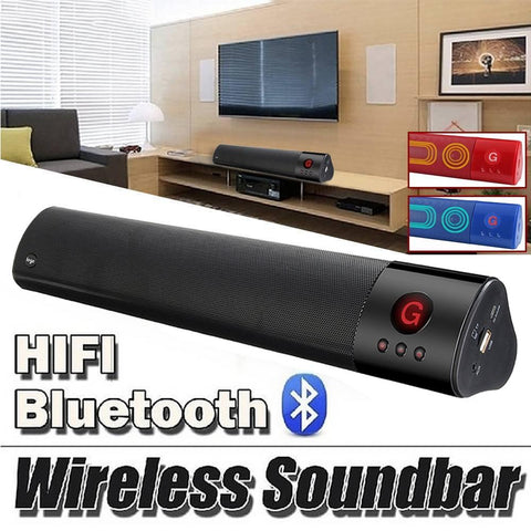 PINkart-USA Wireless Bluetooth Portable Speaker Sound Bar 3D Stereo Subwoofer Audio Speaker Hifi Home Theater