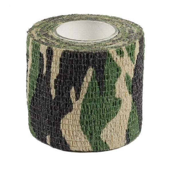 PINkart-USA Woodland 4.5M*5M Tactical Camouflage 1 Roll Stretch Bandage Outdoor Hunting War Shooting Tape Gun