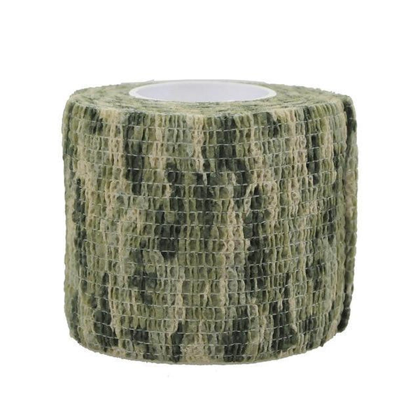PINkart-USA Woodland Camo 4.5M*5M Tactical Camouflage 1 Roll Stretch Bandage Outdoor Hunting War Shooting Tape Gun
