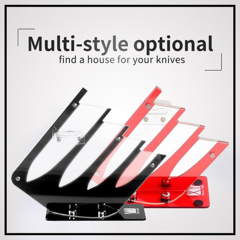 PINkart-USA XYj Kitchen Ceramic Knife Holder 4Pcs/5Pcs Knife Set Knife Blocks Durable Acrylic Kitchen Knive Stand Kitchenware Accessories