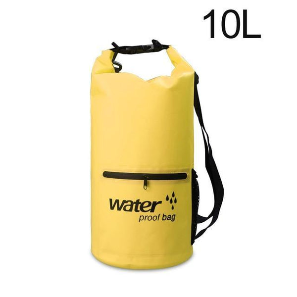 PINkart-USA Yellow 10L Pvc 5L 10L 20L Outdoor Waterproof Bag Dry Bag Swimming Bag Sack Storage For Travelling Rafting