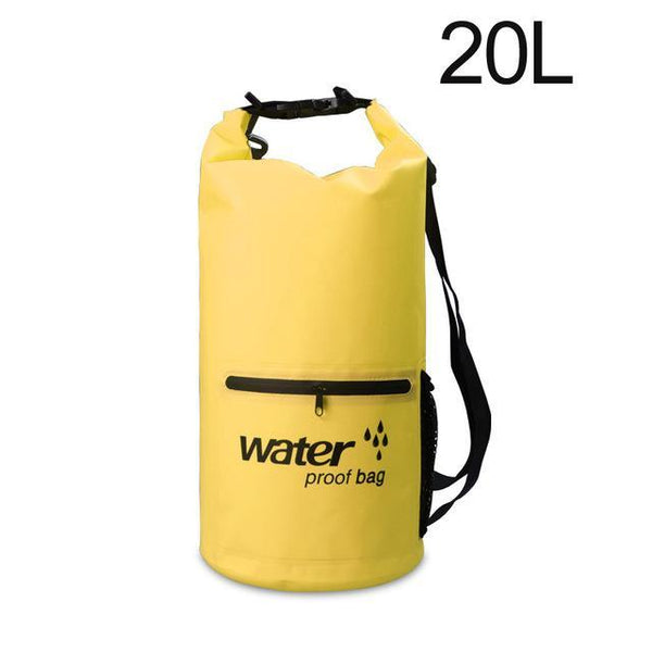 PINkart-USA Yellow 20L Pvc 5L 10L 20L Outdoor Waterproof Bag Dry Bag Swimming Bag Sack Storage For Travelling Rafting