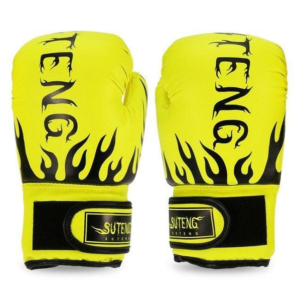 PINkart-USA Yellow Boxing Gloves For Children Breathable Safety Boxing Training Leather Gloves For Child Fitness