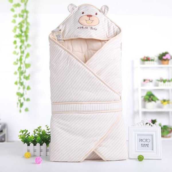 PINkart-USA Yellow Cute Bear Shape Baby Sleeping Bag Blanket For Autumn Spring Soft Comfortable Cotton Infant