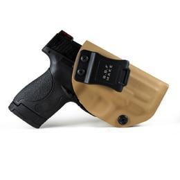 PINkart-USA Yellow For Right B.B.F Make Iwb Kydex Holster Fits: M&P Shield 9Mm/.40 S&W Gun Holsters Concealed Carry Bag Guns