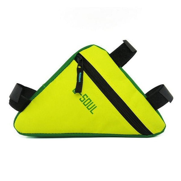 PINkart-USA Yellow Green Triangle Bike Bag Front Tube Frame Cycling Bicycle Bags Waterproof Mtb Road Pouch Holder Saddle