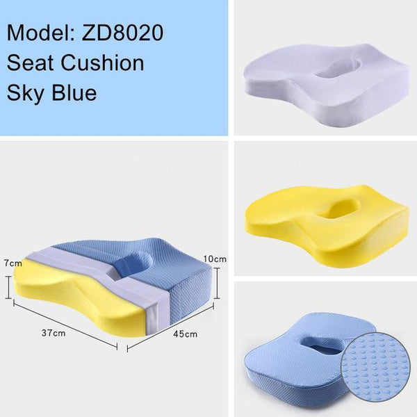 Non-Slip Orthopedic Memory Foam Seat Cushion For Office Chair Car Wheelchair Back Support