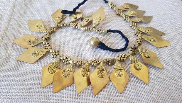 Tribal Brass necklace