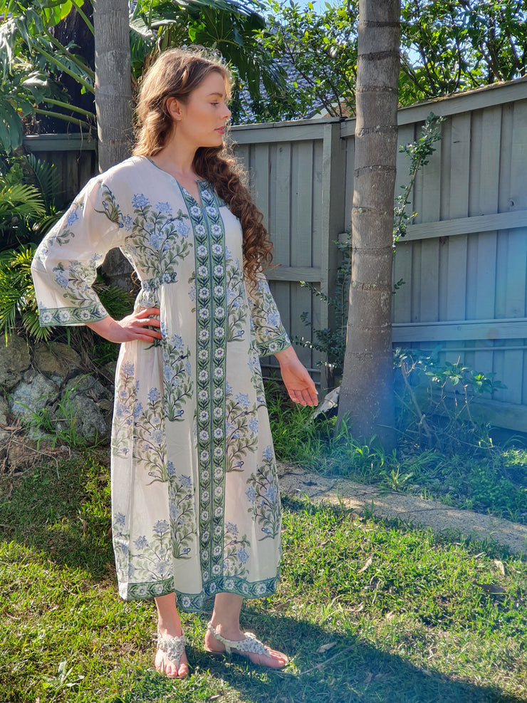 Long Kaftan Dress - FlowerBouquet