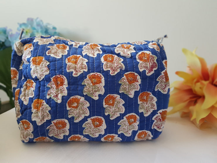 Block Print Cosmetic Bag