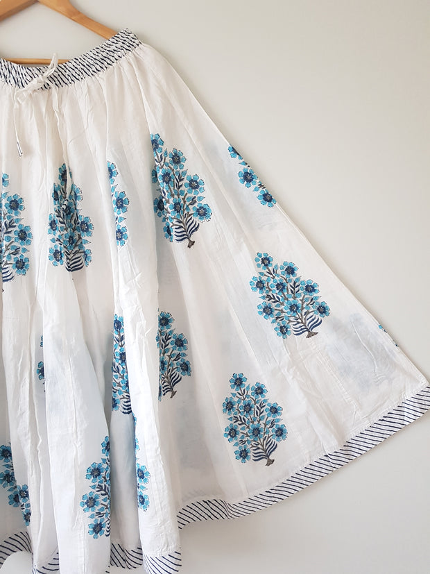 Jaipur Cotton Hand Block Printed Skirt