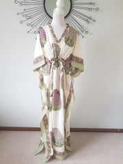 Long Kaftan -Hand Block Print - Cotton Voile
