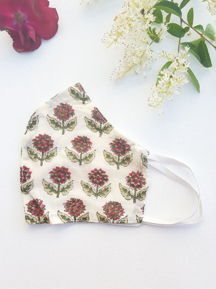 Face Masks - Two layers - Organic cotton voile