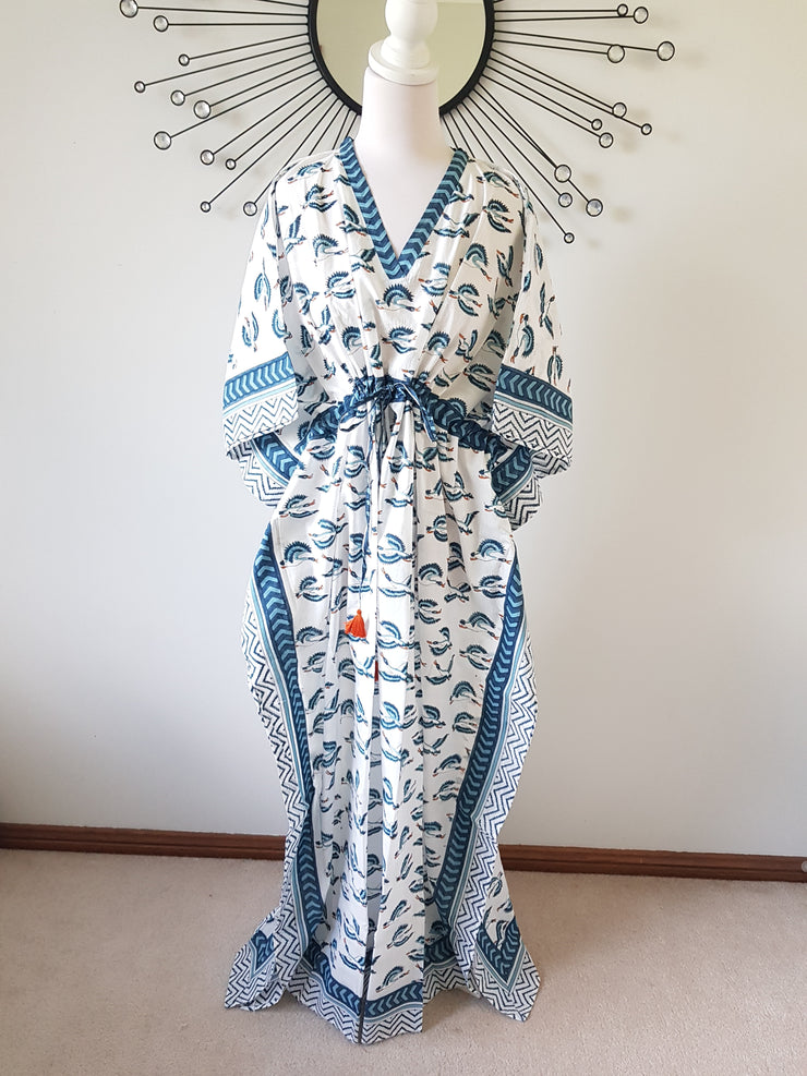 Crains - Hand Block Print Long Kaftan
