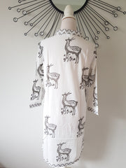 Deer Hand Block Print Tunic