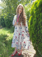 Hibiscus Tiered Long Dress