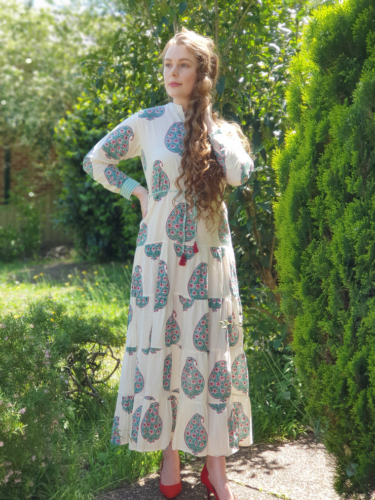Chinar - Paisley Tiered Long Dress