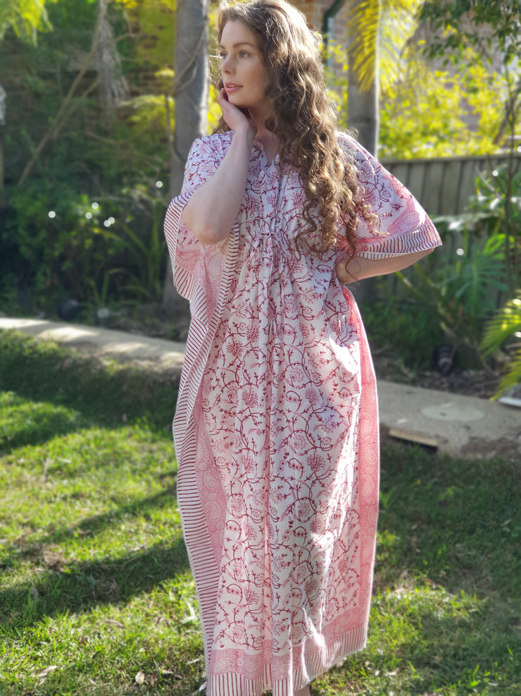 Block Print Long Kaftan