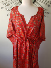 Re Vintage Silk Long Kaftan - Eesha Boutique