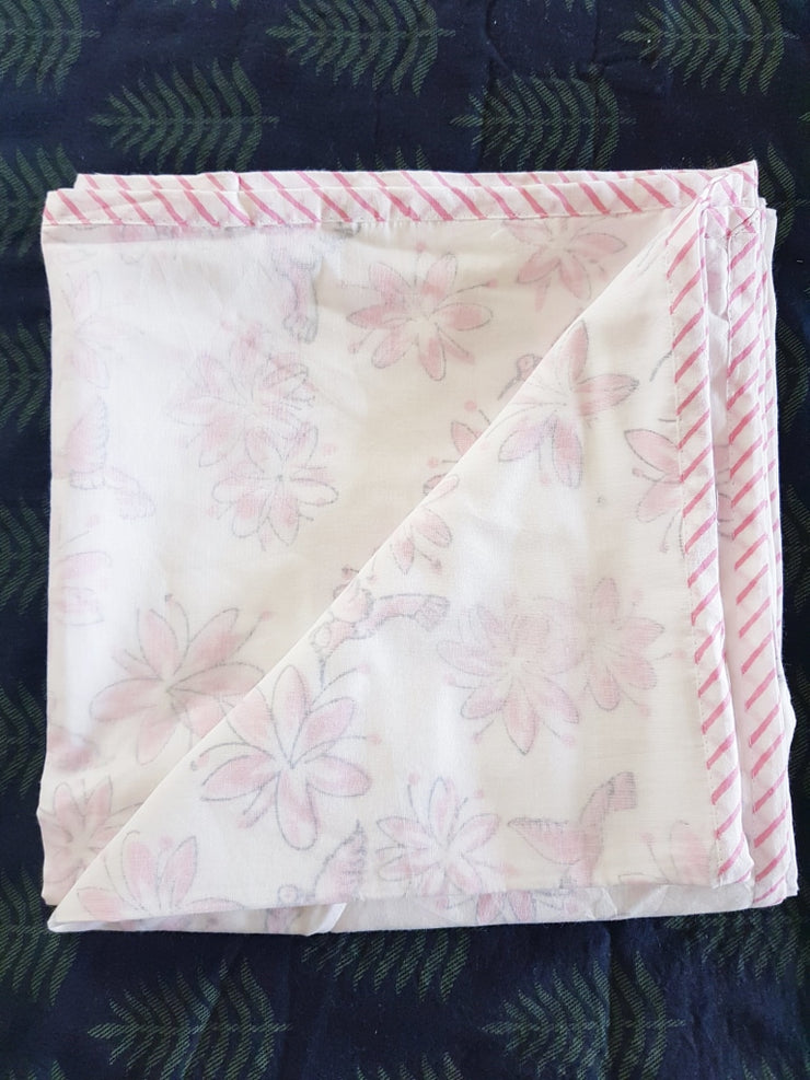 Baby Cotton Quilted Blanket Dohar And Headband Set - Hummingbird