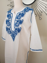 Blue Hand Embroidered Tunic
