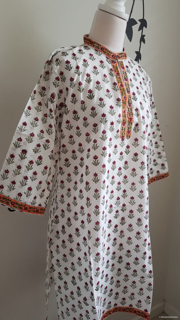 Cotton Hand Block Print Tunic L-Size