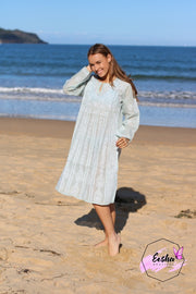 Cotton Voile Hand Embroidered Dress Tunic
